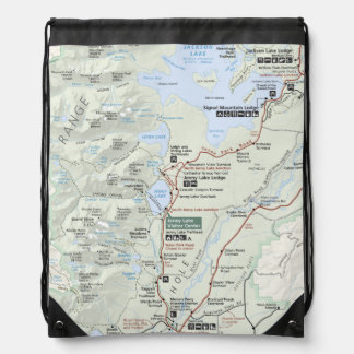 Grand Teton map backpack