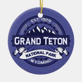 Grand Teton Midnight Ceramic Ornament