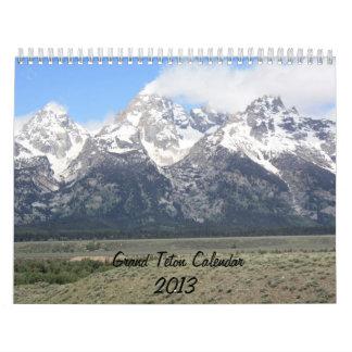 Grand Teton Mountains 2013 Calendar