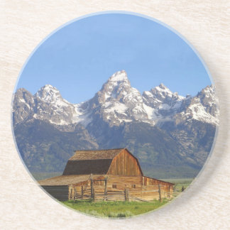 Grand Teton mountains Beverage Coasters