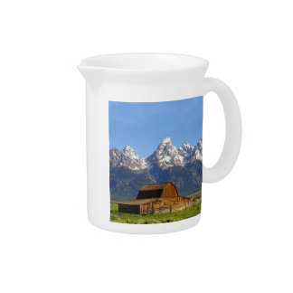 Grand Teton mountains Beverage Pitcher