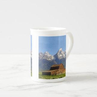 Grand Teton mountains Bone China Mug