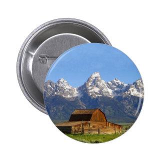Grand Teton mountains Buttons