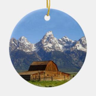 Grand Teton mountains Ceramic Ornament
