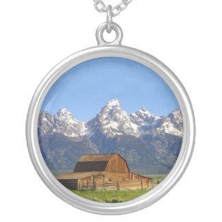 Grand Teton mountains Personalized Necklace