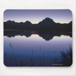 Grand Teton Mountains reflected in lake Mouse Pad