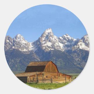 Grand Teton mountains Stickers