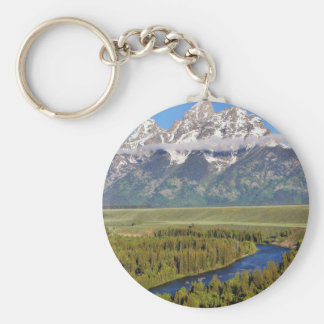 Grand Teton National Park 3 Basic Round Button Keychain