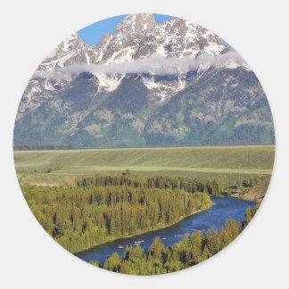 Grand Teton National Park 3 Classic Round Sticker