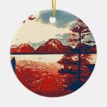Grand Teton National Park Art Christmas Tree Ornaments