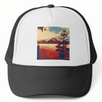 Grand Teton National Park Art Trucker Hat