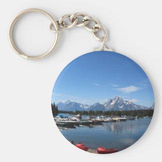 Grand Teton National Park Basic Round Button Keychain