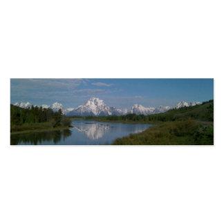 Grand Teton National Park Bookmark Mini Business Card