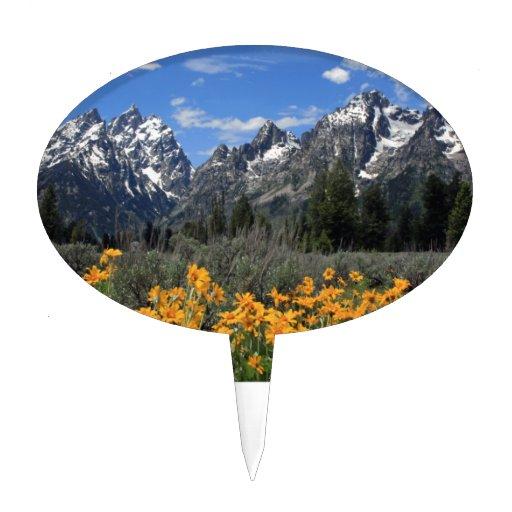 Grand Teton National Park Cake Topper