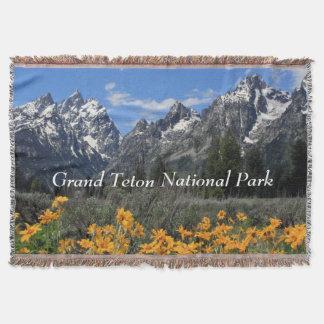 Grand Teton National Park Customizable Souvenir Throw