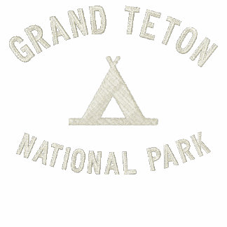 Grand Teton National Park Embroidered Hooded Sweatshirts