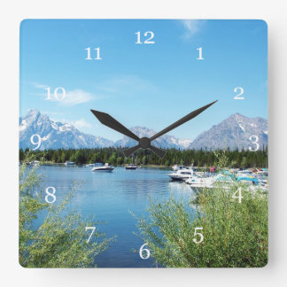 Grand Teton National Park, landscape Square Wall Clock