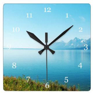 Grand Teton National Park, landscape Square Wall Clocks