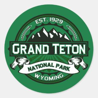 Grand Teton National Park Logo Classic Round Sticker