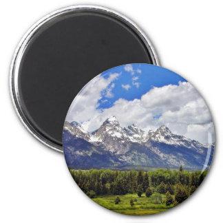 Grand Teton National Park. 2 Inch Round Magnet