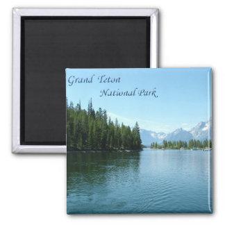 Grand Teton National Park 2 Inch Square Magnet