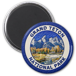 Grand Teton National Park 2 Inch Round Magnet
