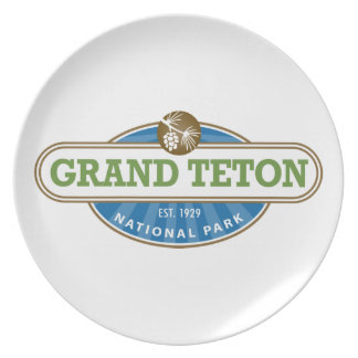 Grand Teton National Park Melamine Plate
