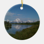 Grand Teton National Park Double-Sided Ceramic Round Christmas Ornament