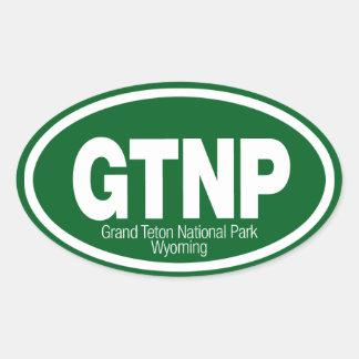 Grand Teton National Park Oval Sticker