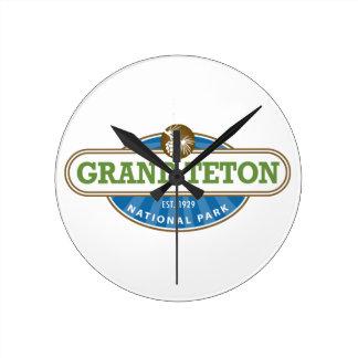 Grand Teton National Park Round Clock