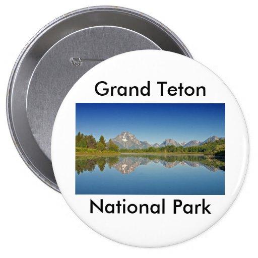 Grand Teton National Park Series 10 4 Inch Round Button