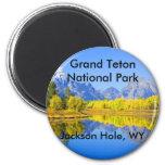 Grand Teton National Park Series 1 2 Inch Round Magnet