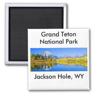 Grand Teton National Park Series 1 2 Inch Square Magnet