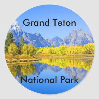 Grand Teton National Park Series 1 Classic Round Sticker