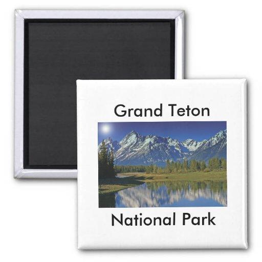 Grand Teton National Park Series 4 2 Inch Square Magnet
