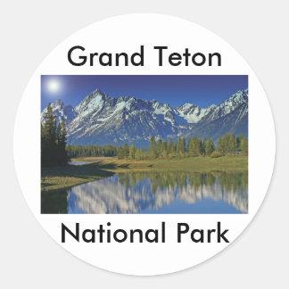 Grand Teton National Park Series 4 Classic Round Sticker