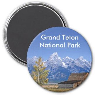 Grand Teton National Park Series 5 3 Inch Round Magnet