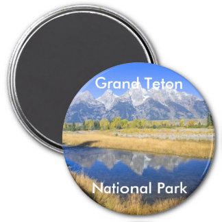 Grand Teton National Park Series 7 3 Inch Round Magnet