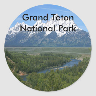 Grand Teton National Park Series 8 Classic Round Sticker