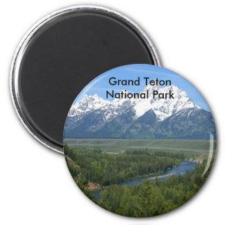 Grand Teton National Park Series 8 2 Inch Round Magnet