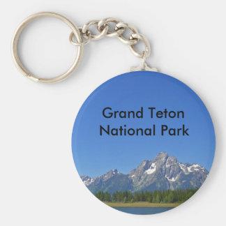 Grand Teton National Park Series 9 Basic Round Button Keychain