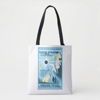 Grand Teton National Park Solar Eclipse Tote Bag