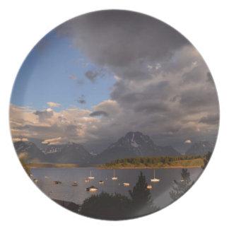Grand Teton National Park Sunrise Plate