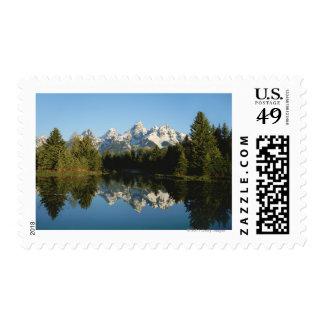 Grand Teton National Park, Teton Range, WY Postage Stamp