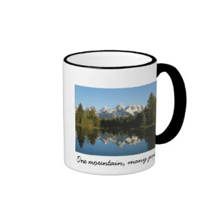 Grand Teton National Park, Teton Range, WY Ringer Coffee Mug