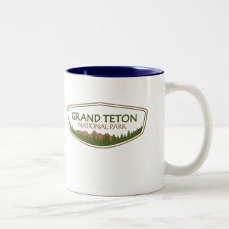 Grand Teton National Park Two-Tone Coffee Mug