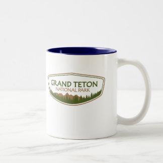 Grand Teton National Park Two-Tone Coffee Mug