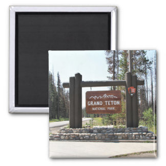 Grand Teton National Park, US National Park, Sign Magnet