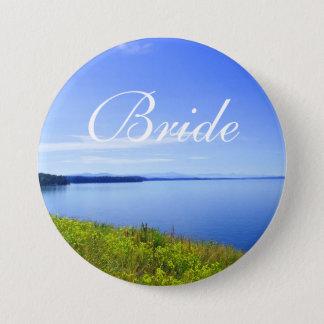 Grand Teton National Park wedding bride button. Button