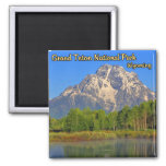 Grand Teton National Park Wyoming 2 Inch Square Magnet